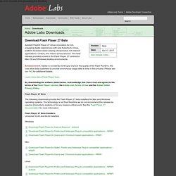 Download Adobe Flash Player 13 Beta for Desktops