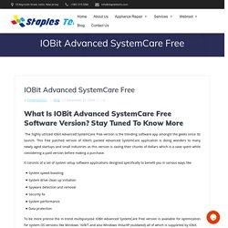 IOBit Advanced SystemCare Free