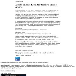 Download Always on Top - Keep Any Window Visible Always