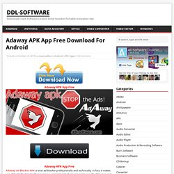 Adaway APK App Free Download For Android - ddl-software
