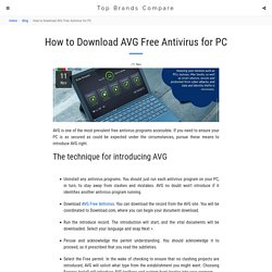 How to Download AVG Free Antivirus for PC - Top Brands Compare