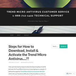 Steps for How to Download, Install & Activate the Trend Micro Antivirus…??
