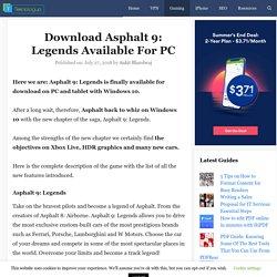 Download Asphalt 9: Legends Available For PC