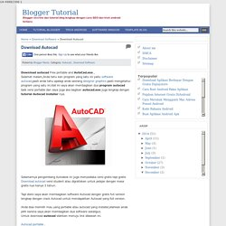 Download Autocad