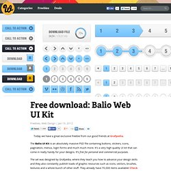 Free download: Balio Web UI Kit