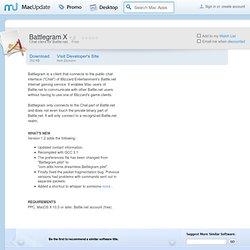 Download Battlegram X for Mac - Chat client for Battle.net