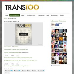 Download Booklets - The Trans 100The Trans 100