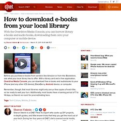 How to download e-books from your local library