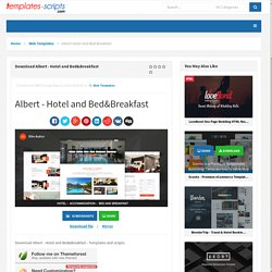Download Albert - Hotel and Bed&Breakfast - Templates-Scripts.com