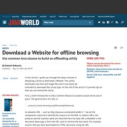 Download a Website for offline browsing