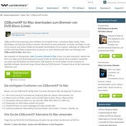 Download von CDBurnerXP für Mac zum Brennen von DVD-Discs (Löwe)