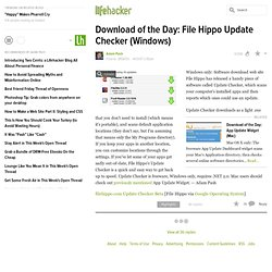 Download of the Day: File Hippo Update Checker (Windows)