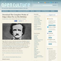 Download The Complete Works of Edgar Allan Poe on His Birthday
