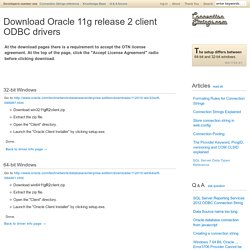Download Oracle 11g release 2 client ODBC drivers - ConnectionStrings.com