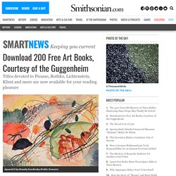 Download 200 Free Art Books, Courtesy of the Guggenheim