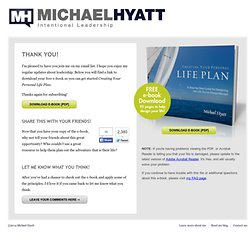 Download: Creating Your Life Plan