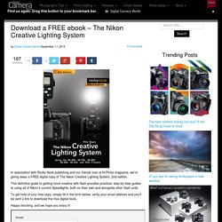 Download a FREE ebook - The Nikon Creative Lighting System
