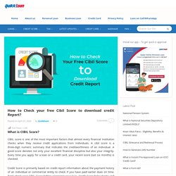 How to Check Your Cibil Score & How to Download Free CIBIL Report Online