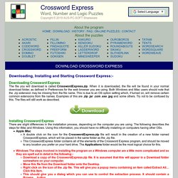 Download Crossword Express