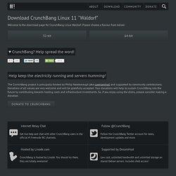 """Download CrunchBang Linux 10 """"statler"""" r20101205"""