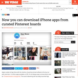 Now you can download iPhone apps from curated Pinterest boards