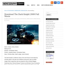 Download The Dark Knight 2008 Full Movie