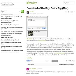 How to quick tag your mp3 with Quick Tag