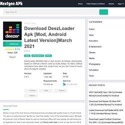Download DeezLoader Apk 2.6.5 [Mod, Android Latest Version]March 2021