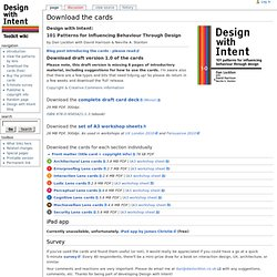 Download the cards - Design with Intent Toolkit