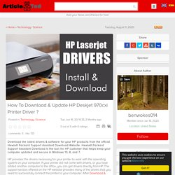 How To Download & Update HP Deskjet 970cxi Printer Driver ?