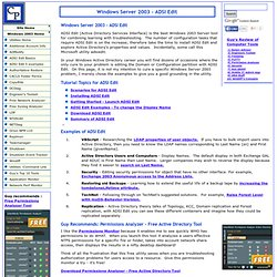 Windows Server 2003 ADSI Edit - Download explore Active Directory examples