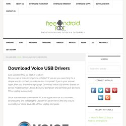Download Voice USB Drivers For All Models