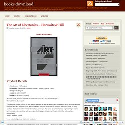 Download The Art of Electronics – Horowitz & Hill
