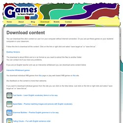 Download English Games