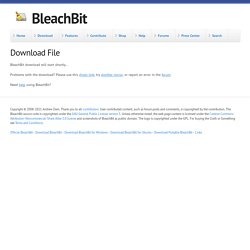 Download File | BleachBit