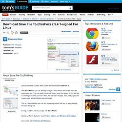 Download Save File to (FireFox) 2.5.4.1-signed (Free) for Linux