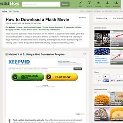 5 Ways to Download a Flash Movie