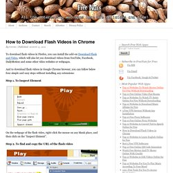 How to Download Flash Videos in Chrome