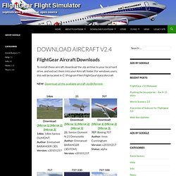 Download Aircraft v2.4 - FlightGear