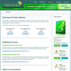 Download Folder Marker and change folder icon or folder color by one mouse click!