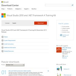 Visual Studio 2010 and .NET Framework 4 Training Kit - Microsoft Download Center - Download Details