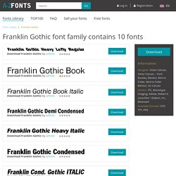 Download Franklin Gothic fonts family