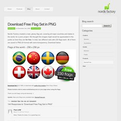Download Free Flag Set in PNG