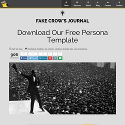 Download Our Free Persona Template