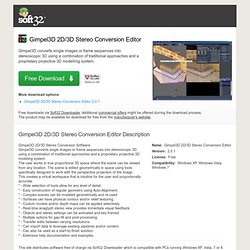 Download Gimpel3D 2D/3D Stereo Conversion Editor Free
