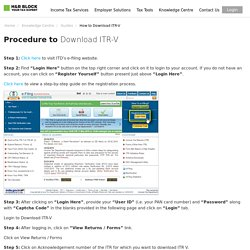 Check ITR-V Receipt Status