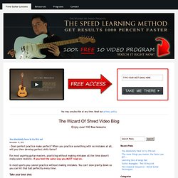 The Wizard of Shred Blog