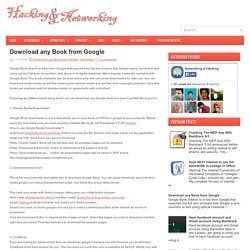 Download any Book from Google ~ Hacking & Networking