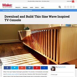 Download & Build This Sine Wave Inspired TV Console