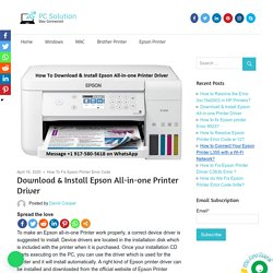 Download & Install Epson All-in-one Printer Driver